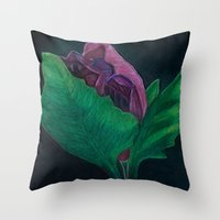 free shipping Throw Pillows featuring Opening - free shipping by Ordiraptus
