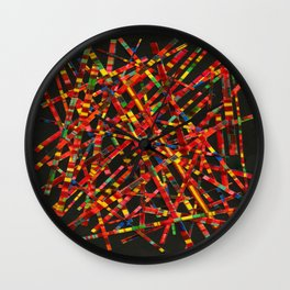 Mad For Autumn Plaid Wall Clock