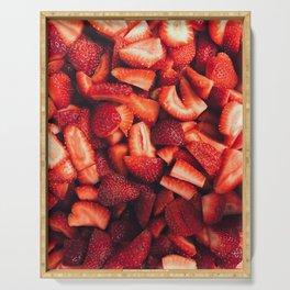 Fresh Strawberries Serving Tray