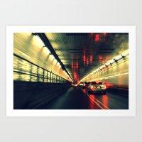 Holland tunnel Art Print