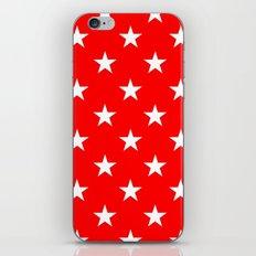 Stars (White/Red) iPhone & iPod Skin