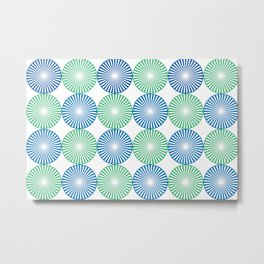 Blue and green circles pattern Metal Print