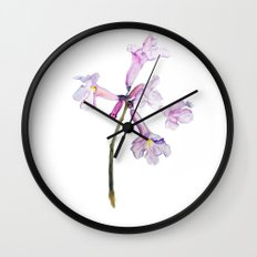Flowers of the tree *Handroanthus sp* Wall Clock