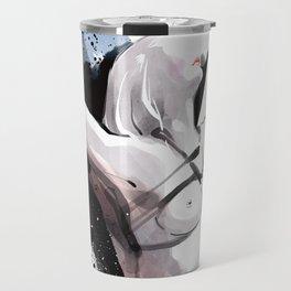 The beauty of tight binding, Naked body tied up to a pole, Nude art, Fine-art shibari rope bondage Travel Mug