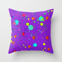 Astract colorful bubbles 142 Throw Pillow