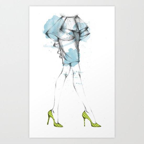 Oh My Legs!  Art Print