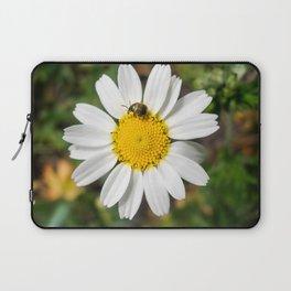 Magic Field Summer Grass - Chamomile Flower with Bug - Macro Laptop Sleeve