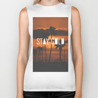 stay gold Biker Tanks featuring Stay Gold by Trash Apparel