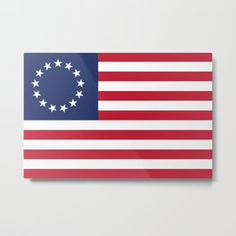 Betsy Ross flag - Authentic color and scale Metal Print