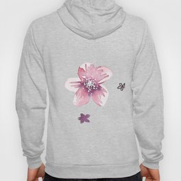 Lilac Pink Watercolour Fiordland Flower Hoody