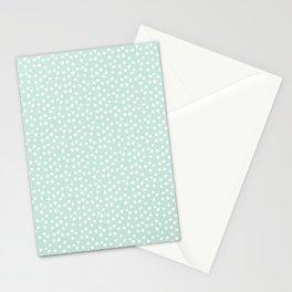 Mint Passion Thalertupfen White Pōlka Round Dots Pattern Pastels Stationery Cards
