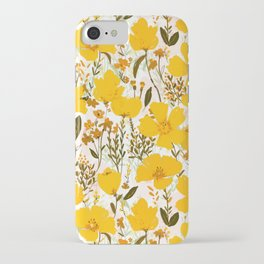 Yellow roaming wildflowers iPhone Case