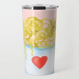 Bowl of Ramen with Chopsticks | If Ramen You is Wrong Word Art...on Pink Travel Mug