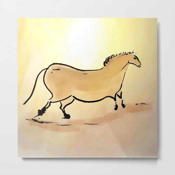 Ancient horse of Lascaux Metal Print