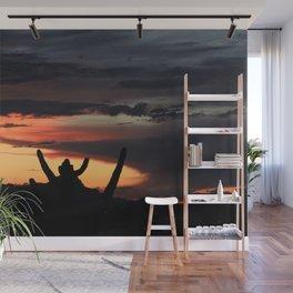 Saguaro Cactus Sunset Wall Mural