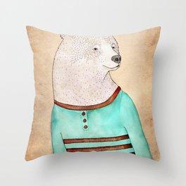 Señor Oso Throw Pillow