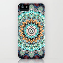 Colorful Kaleidoscope Rings iPhone Case