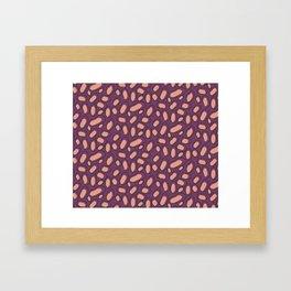 Abstract Orange Spots on Purple Background Framed Art Print