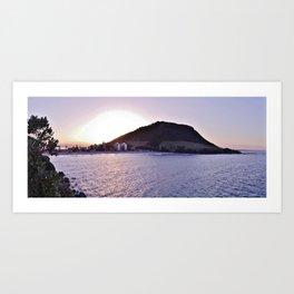 Mt Maunganui beach Art Print