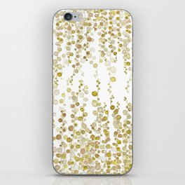 golden string of pearls watercolor iPhone Skin