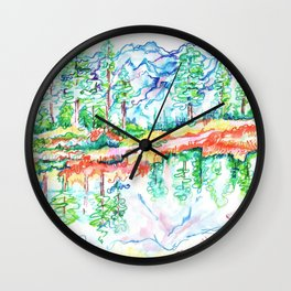 Colorful landscape Wall Clock