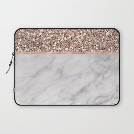 Epicurious rose gold marble Laptop Sleeve