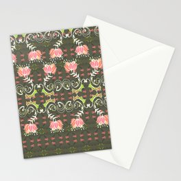 Lotus and some other squiggly lines  Stationery Cards