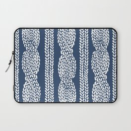 Cable Navy Laptop Sleeve