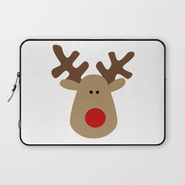 Christmas Reindeer-White Laptop Sleeve
