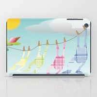 onesie iPad Cases featuring Clothesline by Gloria Larravide