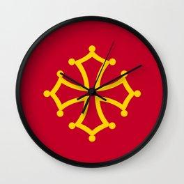 Midi Pyrenees france country region flag Wall Clock