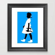 Ruby Walks Framed Art Print