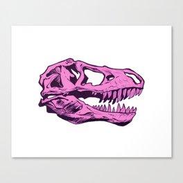 Dinosaur skull (pink) Canvas Print