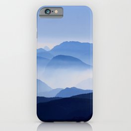Periwinkle Landscape Mountains Parallax iPhone Case