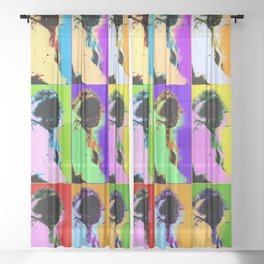 Poster with ape in pop art style Sheer Curtain