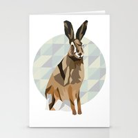hare Stationery Cards featuring Hare by Giulia Zerbini