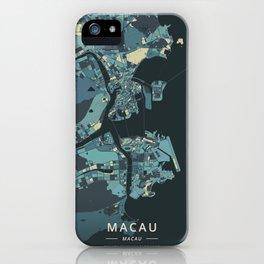Macau, Macau - Cream Blue iPhone Case