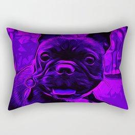 french bulldog basketball vector art purple Rectangular Pillow