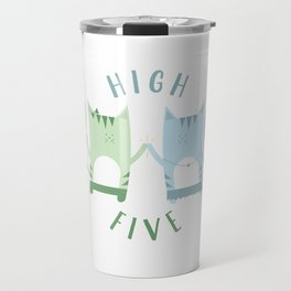 Traveling Tabbies: High Five Travel Mug