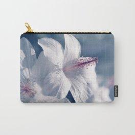 sweet sleep pua aloalo kokio keokeo hawaii white hibiscus flowers Carry-All Pouch