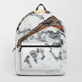 """Blackap Chickadee Oval"" Backpack"