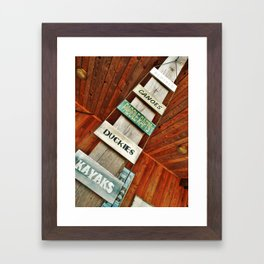 Camp with Me Framed Art Print