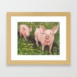 Pigs 2 Framed Art Print