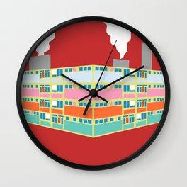 pastel industry Wall Clock