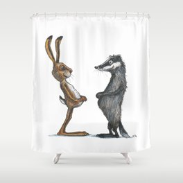 Hare & Badger Shower Curtain