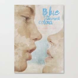 Blue is the warmest colour - chapter one - hand-painted movie poster - Canvas Print