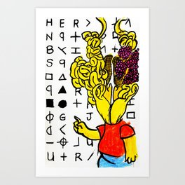 Eat my Zodiac crypto Art Print