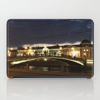moscow iPad Cases featuring Night Moscow. by Mikhail Zhirnov
