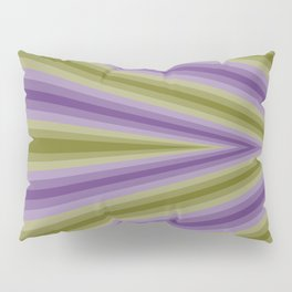 Purple and Green continuous triangle Pillow Sham