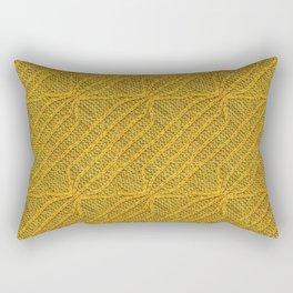 Yellow Lines Knit Rectangular Pillow